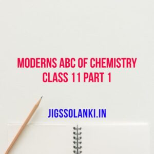 Modern ABC Of Chemistry For Class 11 Part 1