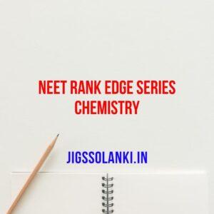 NEET Rank Edge Series Chemistry